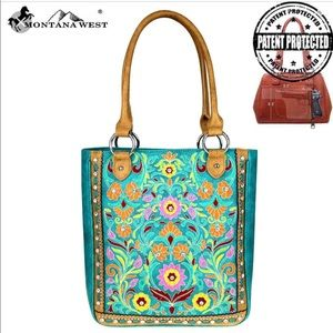 Montana West Embroidered Collection Tote Bag